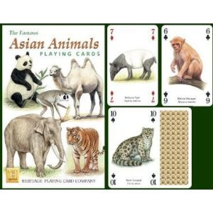 Heritage Playing Cards. Asian - Playing Cards Reptile