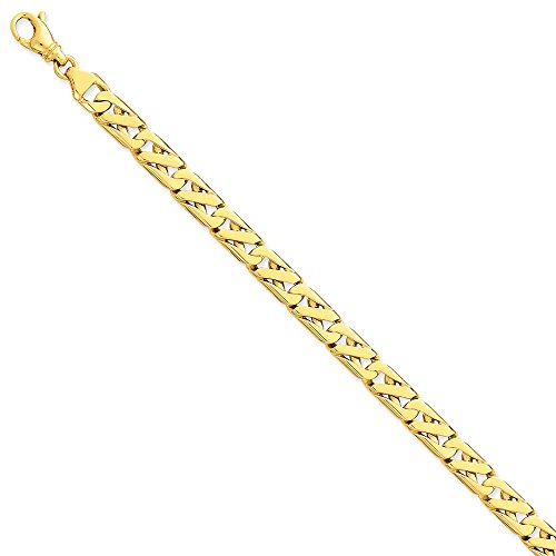 14k Yellow Gold 79mm Link Bracelet 825 Inch Chain Fancy H Lk Style Fine Jewelry Gifts For Women For Her