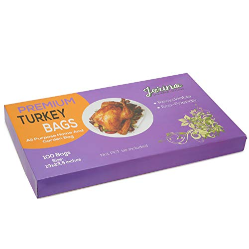 Jerina Premium Turkey Oven Bags Nylon Home And Garden Bags- 100 Counts(19 x 23.5 inches) (100)