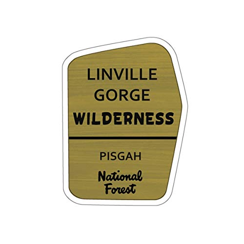 Linville Gorge Wilderness Trail Sign Vinyl Sticker - NC Hiking/Camping Decal for Car, Laptop, and Water Bottle