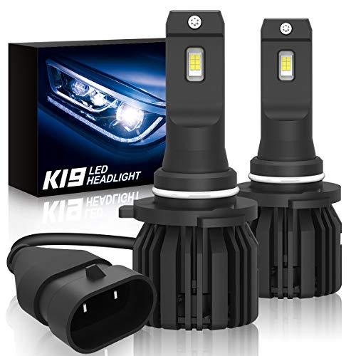 (9005/HB3 Led Headlights Bulbs, SUPAREE K19 Single Beam Headlamp with Fan, 9600lm 6000K Cool White High Beam/Low Beam/Fog Light Bulb (2 Pack) -2 Year Warranty)