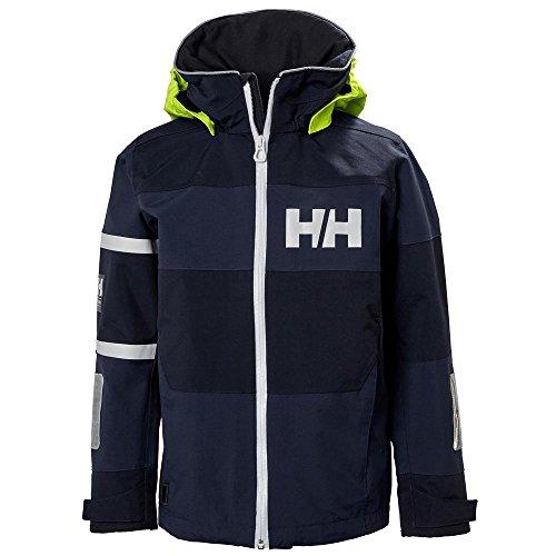 Helly Hansen Junior Salt Coast Jacket, Evening Blue, Size 12 by Helly Hansen (Image #2)