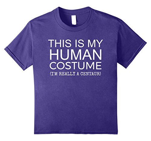 Centaur Costume Kids (Kids My Human Costume Centaur Halloween T-shirt 12 Purple)