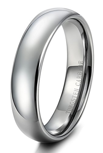 Tungary 6mm Mens Womens Tungsten Carbide Wedding Band Rings Engagement Promise Domed Size 11