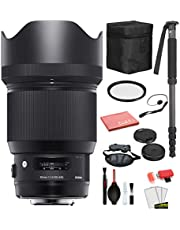 $933 » Sigma 85mm f/1.4 DG HSM Art Lens for Canon EF with Bundle Includes: UV Filter + 70�� Monopod + More