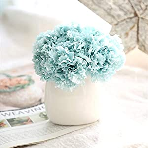 LySanSan - 2sets 6Branches Artificial Flower Carnation Bouquet for Mother's Day Gift DIY Wedding Home Decorative Floristry Supplies Flowers 31