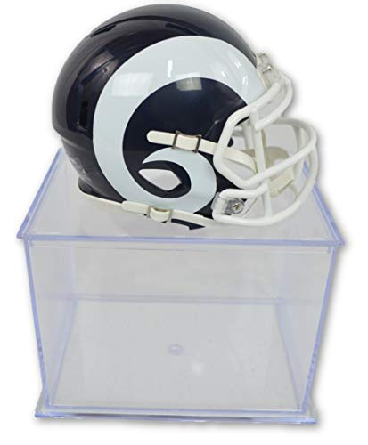 cial National Football League Fan Shop Authentic NFL Mini Speed Helmet and Display Case Bundle. Great Sports Fan Collectible - Office, Home or Man Cave (Los Angeles Rams) ()