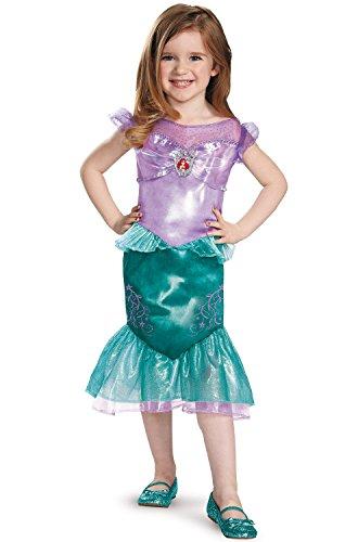 [Disguise 82905M Ariel Toddler Classic Costume, Medium (3T-4T)] (Ariel Costumes Toddler)