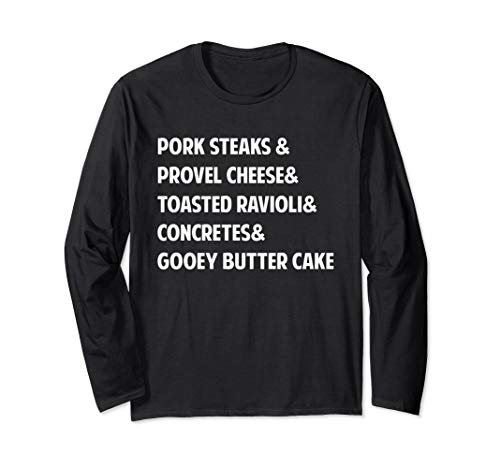 St. Louis Foodie Long Sleeve T-Shirt (Best Gooey Butter Cake St Louis)