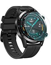 [عبوتان] لحماية الشاشة Huawei Watch GT2 46mm ، مقاوم للانفجار مقاوم للخدش غطاء كامل شفاف حامي الشاشة لهواوي ووتش GT2 ساعة ذكية 46mm