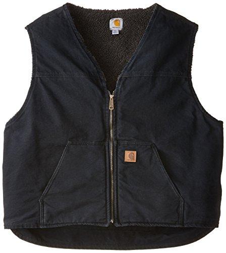 Carhartt Men's Big & Tall  Sherpa Lined Sandstone Rugged Vest V26,Black,4X-Large