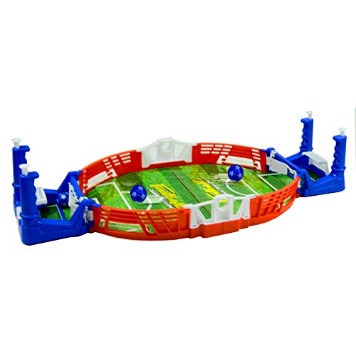 BOLOMI Mini Tabletop Soccer Game Interactive Desktop Training Football Toy Family Party with Two Balls and Score Keeper for Sports Fans -