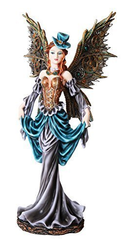 PTC 12 Inch Steampunk Dressed to The Nines Fairy Statue Figurine (Statue Large Fairy)