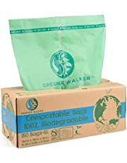 Greener Walker 6L-150 zakken 100% composteerbare biologisch afbreekbare afvalzakken 6 l/10 l/30 l keuken levensmiddelen afvalzakken met EN13432-certificering