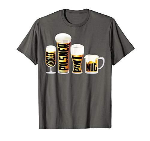 Glass Pilsner Goblet - Goblet Pilsner Pint Mug Shirt | Cute Lager Addict Jugs Gift