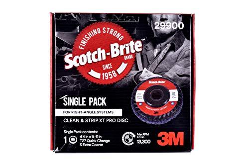 Scotch-Brite Clean and Strip XT Pro Extra Cut Disc, Shaft Mount, 2-ply, 4 in x 1 in x 1/4 in, A XCS, 10 per - Shaft Mount