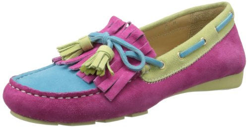 Vaneli Womens Rugby Slip-on Loafer Fuchsia E-suede / Turquoise E-suede / Lime E-suede