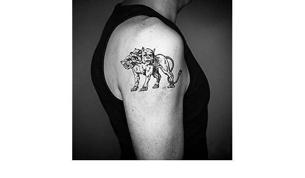 Tatuaje Temporal de Perro Cerberus de tres cabezas (2 Piezas ...