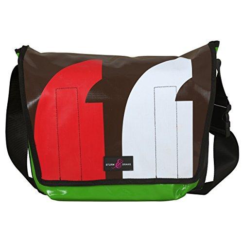 Sturm & Drang - Maxi messenger bag - Borsa in tela cerata a tracolla - Borsa università