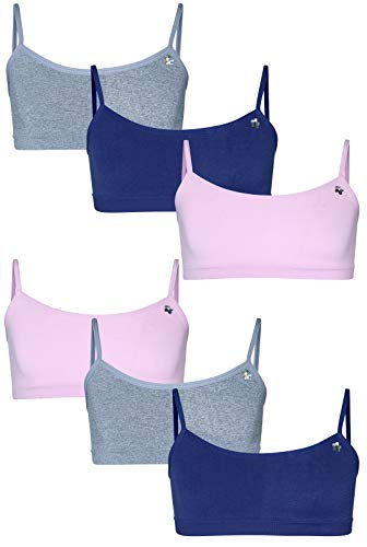 (Limited Too Girls' Seamless Training Bra, 6-Pack (Pink/LT Heather Grey/Blueberry, Large / 14-16)')