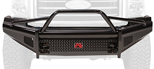 (Fab Fours FS05-S1262-1 Black Steel Front Ranch Bumper)