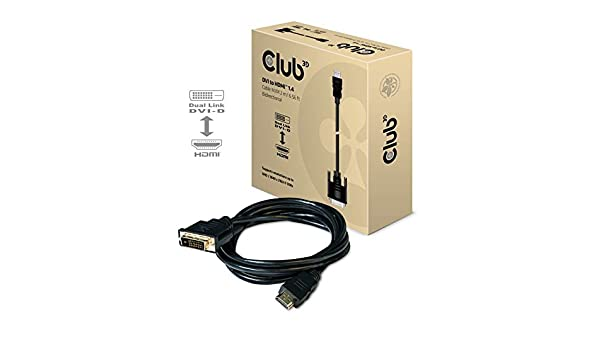 CLUB3D Cable DVI a HDMI 1.4 M/M 2m / 6.56ft Bidireccional ...