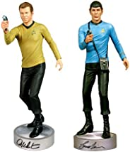 William Shatner and Leonard Nimoy Autographed Kirk and Spock 1:4 Statue Set