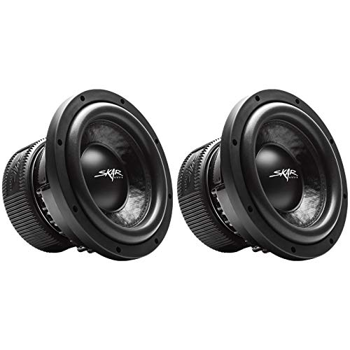 (2) Skar Audio VVX-10v3 D4 10″ 1200W Max Power Dual 4 Subwoofer