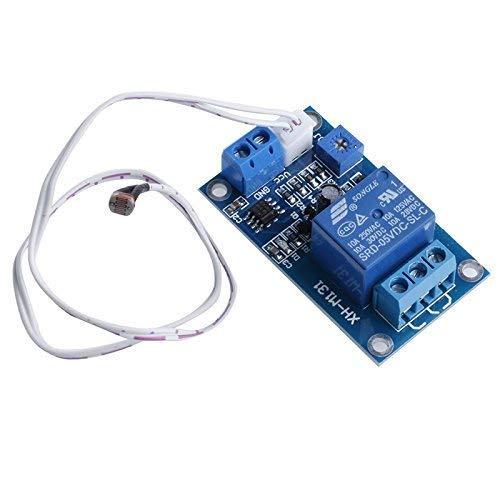 ARCELI Capteur de d/étection XH-M13 de d/étecteur de Relais /à Relais de photor/ésistance de commutateur de Commande d/éclairage 5V