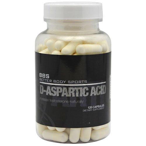 Sport Better Body supplément d'acide D-aspartique alimentaires, 120 comte