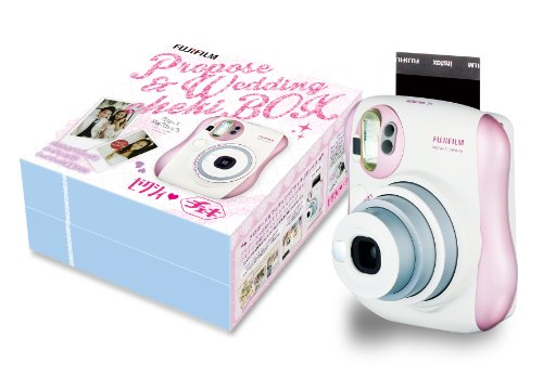FUJIFILM instant camera Cheki instax mini 25 Pearl Pink Zexy collaboration BOX INS MINI25 Zexy BOX
