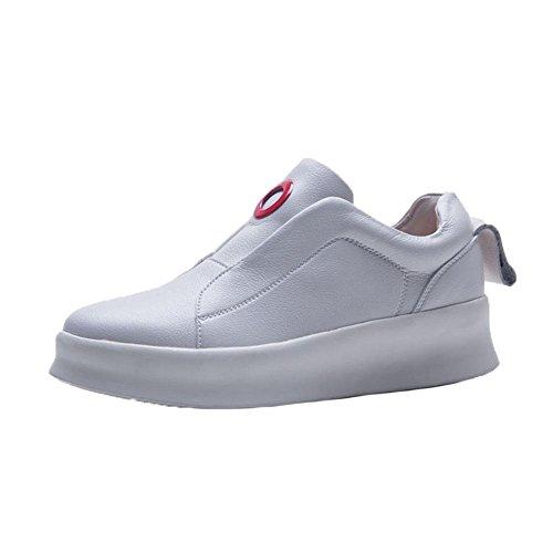 KJJDE Zapatos con Plataforma Mujeres WSXY-A3405 Accesorios Redondos Creativos Senderismo Deportivas Aire Libre y Zapatos Para Running creamy-white