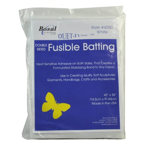 Belagio Enterprises Bosal-4250 Duet Double Sided Fusible Batting, 45 by 36-Inch by BELAGIO