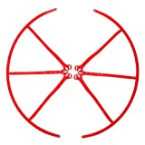 2x RC Spare Parts Blade Propeller Protector Guards for 12'' Drone Models Red
