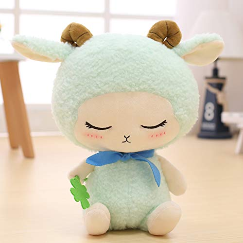 30 Cm bluee lamb DONGER Cute Little Sheep Pink Rabbit Doll Toy Rabbit Rabbit Powder Doll Girl Birthday Present, bluee  Lamb, 30 Cm