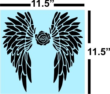 Angel Wings STENCIL for Painting Signs, Reusable, Plastic, 14 mil Angel Paint
