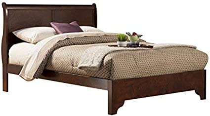 Alpine Mobel West Haven Schlitten Bett Modern Full Cherry Amazon De Kuche Haushalt