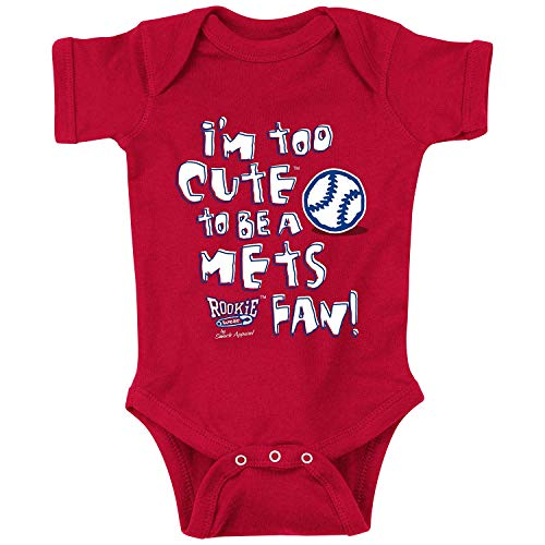 - Rookie Wear by Smack Apparel Philadelphia Baseball Fans. I'm Too Cute Onesie (NB-18M) Toddler Tee (2T-4T) (18M, Red)