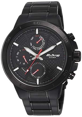 Titan Octane All Metal Analog Black Dial Men's Watch ?90091NM01
