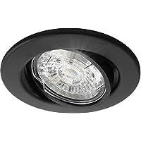 8 Stuks Lybardo Inbouwspot LED - Inbouw armatuur Lucca - Kantelbaar - Rond - Zand Zwart