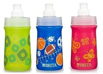 bf69926595 Amazon.com: 3 Pk, BRITA 13 Oz Soft-Squeeze Bottle Water Filtration ...