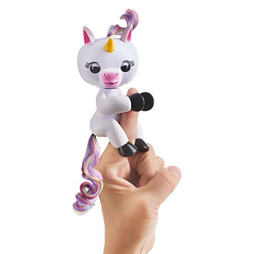 Fingerlings Baby Unicorn - Gigi (White with Rainbow Mane and Tail) - Interactive Baby Pet