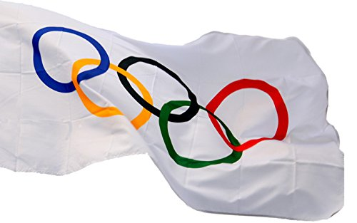 Summer Olympic Themed Costumes - TINUOS Nylon Olympics Flag 3 Feet