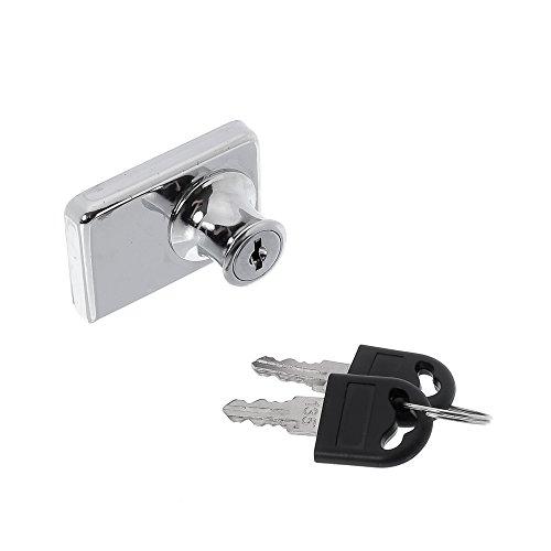 Fechadura dupla para porta de vitrine ou rack