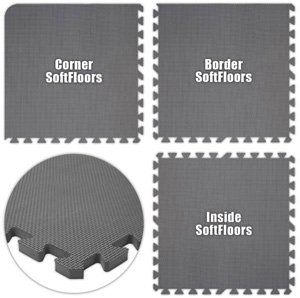 Floor Pad, SoftFloors, Grey, 10' x 14' Set, Total Sq. Ft.:140