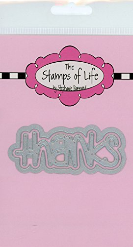 The Stamps of Life Word Circle Thank You Die Cuts for Card Making and Scrapbooking by Stephanie Barnard - Sentiments Dies -