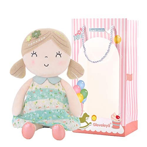 Gloveleya Baby Doll Girl Gifts Wearing Spring Dress Plush Cl