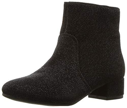 Nine West Girls' Alexius Fashion Boot, Black Sparkle, M110 M US Little -