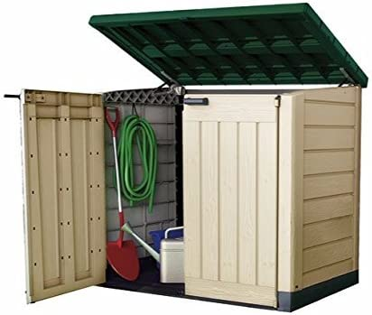 Garden Storage Shed Box XL Container Bikes Lawn Mower Wheelie Bin Outside Home