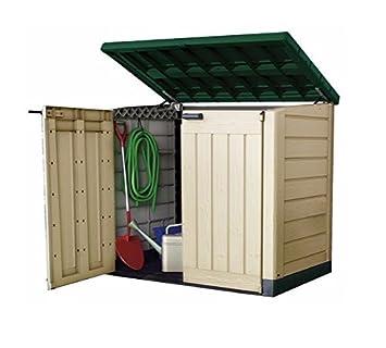 Keter Jardín Cobertizo de almacenamiento de plástico ideal para bicicletas de herramientas cortadoras de césped: Amazon.es: Jardín